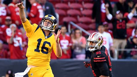 jared goff todd gurley lead rams   wild   victory