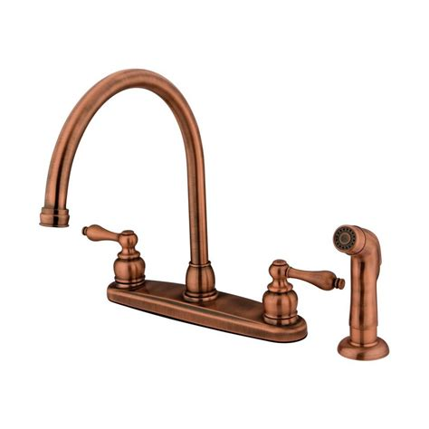 copper faucet kitchen shop elements of design antique copper 2 handle