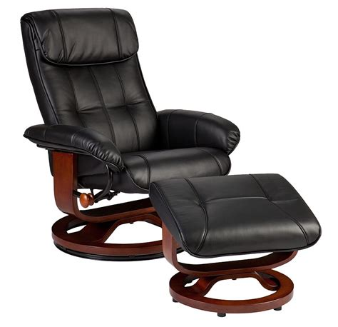 martin bryce style recliner and ottoman in