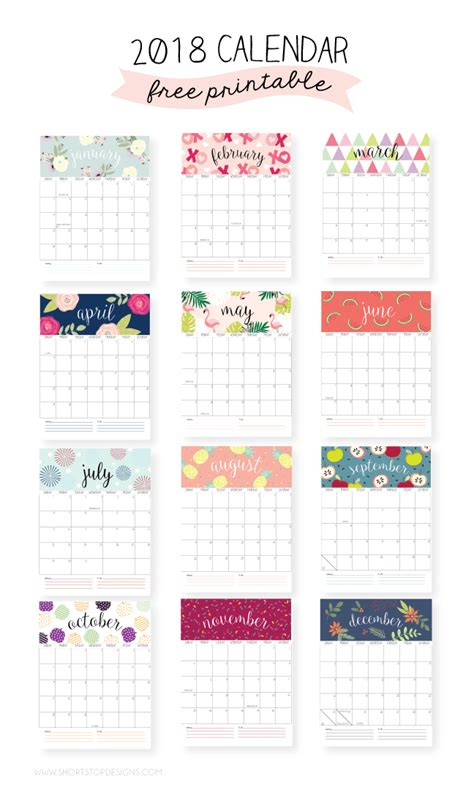 printable  calendars  kick start