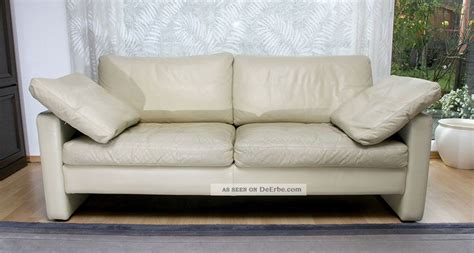 Cor Conseta Couch 2 Sitzer Ledersofa Mit Kissen In