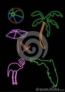 Florida Neon Shapes Royalty Free Stock Image