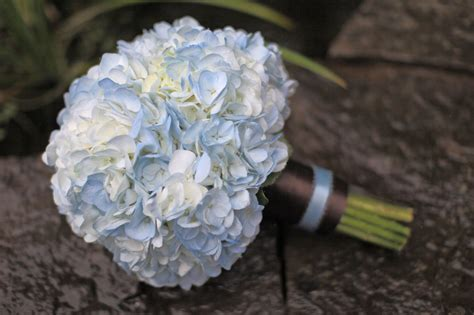 hydrangea bouquets blue and white wedding bouquets bb0376 blue and brown hydrangea bouquet