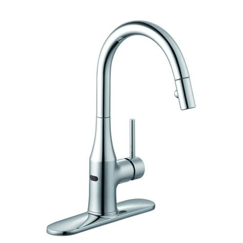 kitchen faucet pull glacier bay market single handle pull down sprayer kitchen faucet in chrome 67551 0001 the
