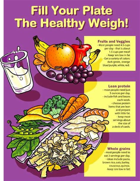 healthy plate poster  nutrition education store