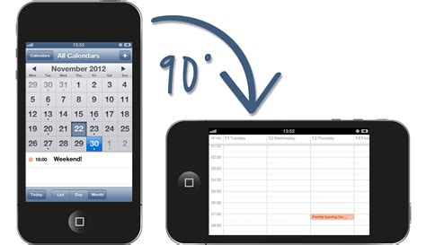 calendar on iphone iphone calendar how to enable calendar week view on