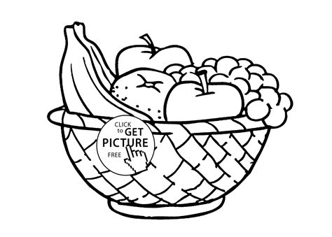 Fruit Basket Coloring Pages To Print