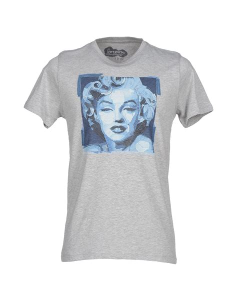 kaos t shirt in gray for grey lyst