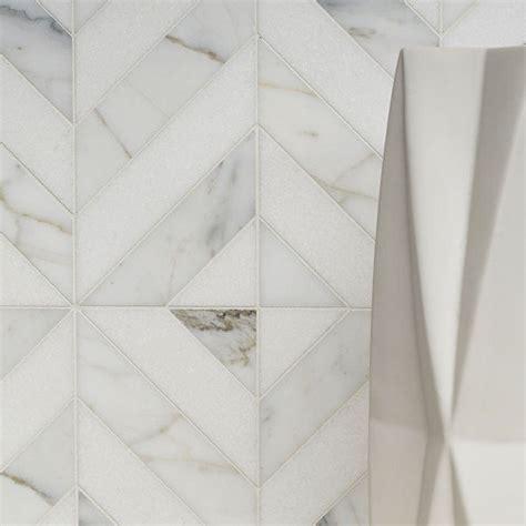 thassos white calacatta gold honed marina chevron marble mosaics   marble system