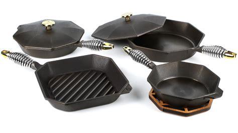 finex cast iron cookware set  piece cutlery