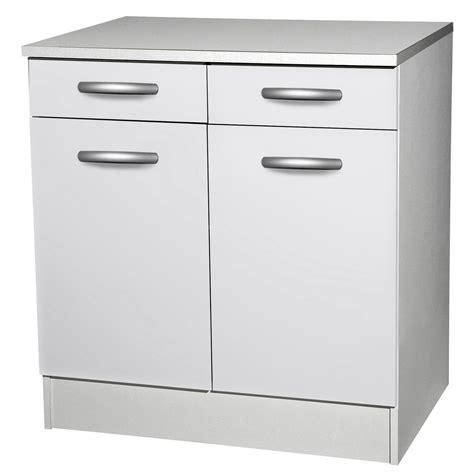 porte meuble de cuisine meuble de cuisine bas 2 portes 2 tiroirs blanc h86x