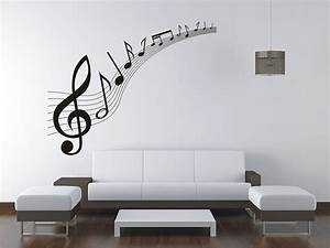 large music music notes wall sticker vinyl decal wall With vinyl wall decal