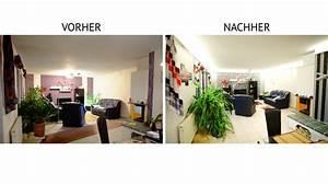 Indirekte Beleuchtung Wohnzimmer : indirekte beleuchtung mit led vorher nachher ~ Watch28wear.com Haus und Dekorationen