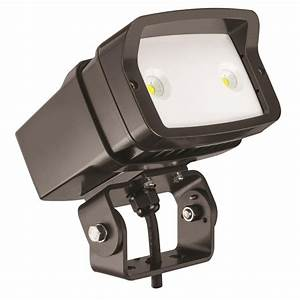 Flood lights for lawn : Lithonia lighting ofl led bronze outdoor k flood