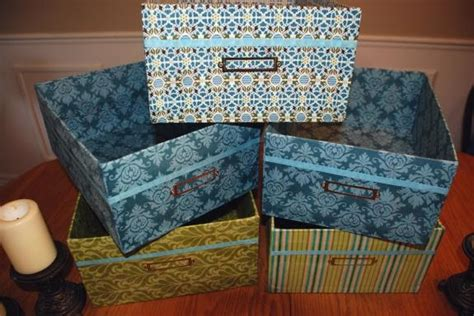 fabric covered boxes yards and yards no sew fabric covered storage boxes 3650