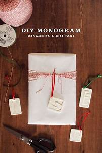 Diy clay monogram ornaments gift tags jamie bartlett for Diy monogram