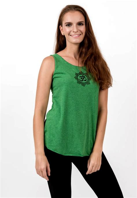 Loose Soft Vintage Style Women's Tank Tops Om Green ...