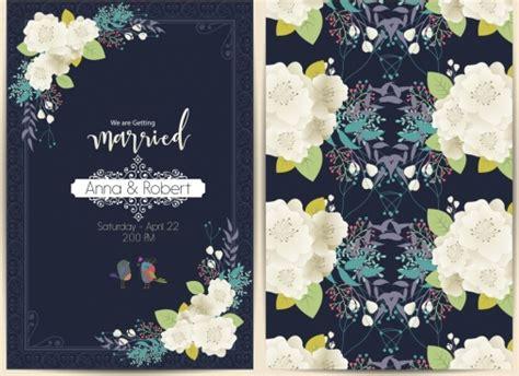 wedding card design template  vector