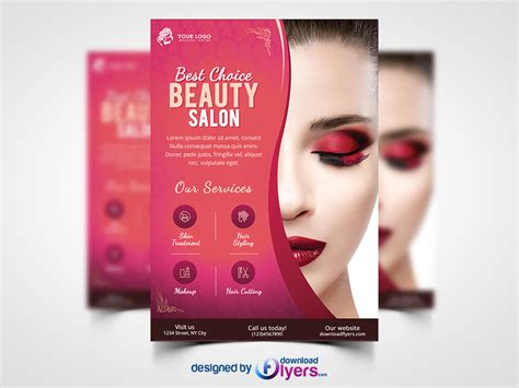 makeup hair salon beauty salon flyer template free psd psd