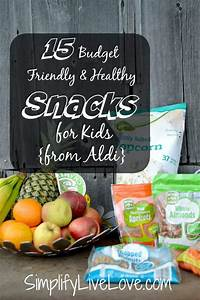 healthy snacks for kids from ALDI