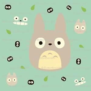 Totoro Fabric | Things to make/ Craft ideas | Pinterest ...