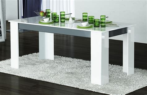 table de salle a manger blanche table de salle 224 manger design laqu 233 e blanche grise nytro table 224 manger design table de