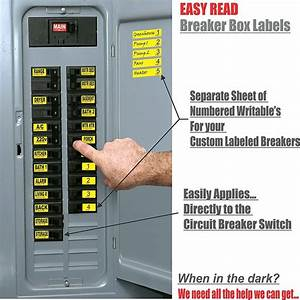 Easy Read Circuit Breaker Labels That Apply Directly To