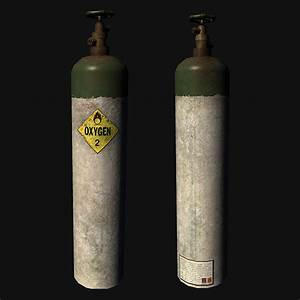 3D model Oxygen Cylinder VR / AR / low-poly OBJ FBX ...
