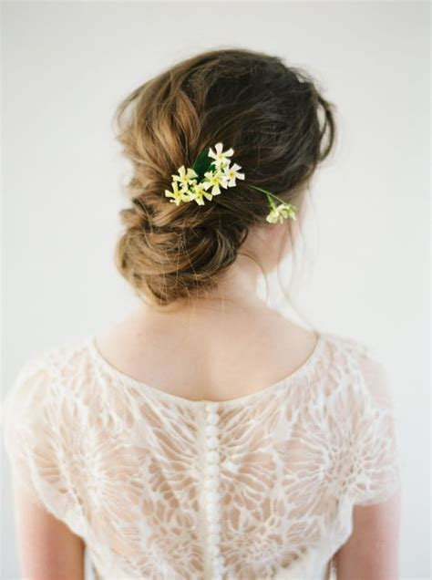 Chignon With Flowers
