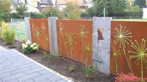 Sichtschutz Garten Metall Glas by Moderne Sichtschutz Metall Garten As Sichtschutz Balkon