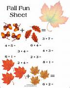 Pics Photos Fall Math Squirrel Worksheet For Kids Autumn Math Worksheets For Kindergarten Fall Leaf Subtraction Worksheet At Firstgrade Fall Math Addition Colouring Pages Page 3