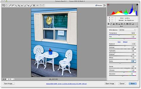 cs camera raw   open raw jpeg  tiff files