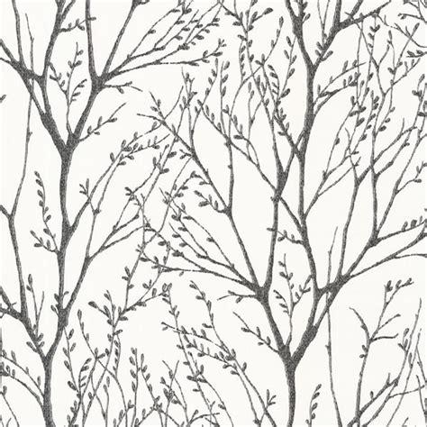 Delamere Black Tree Branches Wallpaper Bolt Contemporary