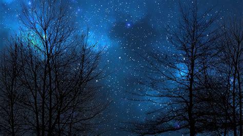 night sky blue nebula  dreamscene  wallpaper