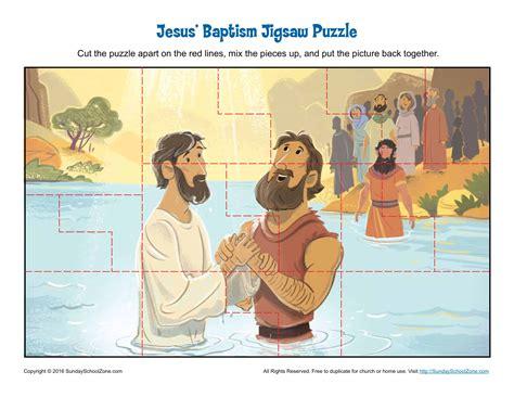jesus baptism jigsaw puzzle childrens bible activities
