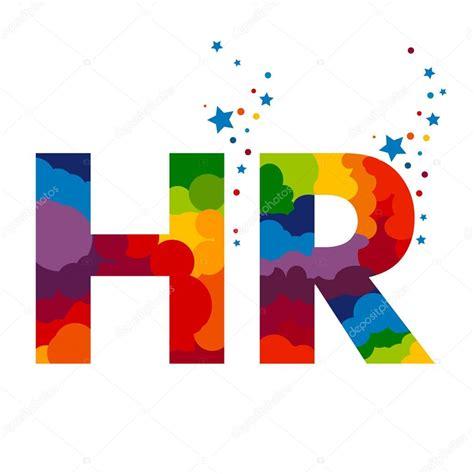 Initial letter HR, Colored Lettering. Illustration ...