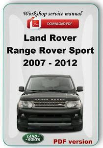 motor repair manual 2007 land rover range rover sport free book repair manuals landrover range rover sport 2007 2008 2009 2010 2011 2012 factory service manual ebay