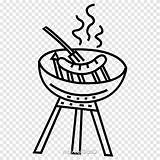 Sausage Clipart Coloring Barbecue Printable Sizzle Transparent Tags Clip sketch template