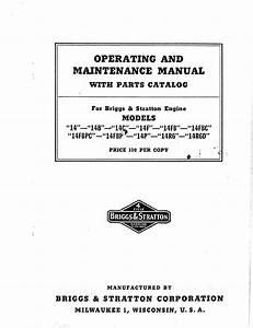 Briggs  U0026 Stratton Lawn Mower 14 User Guide