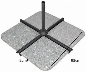 Pied Pour Parasol : pied de parasol granit 50 kgs pour parasol d port ~ Teatrodelosmanantiales.com Idées de Décoration