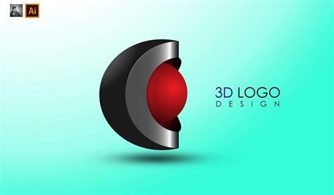 Logo 3d by 3d Logo Design Hd In Adobe Illustrator Cc Ju