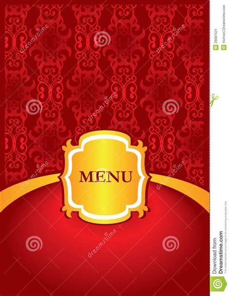 menu cover design stock image image