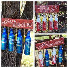 Recycled beer bottle wind chime Craft Ideas