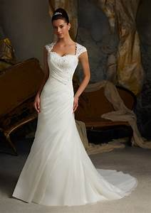 venice lace appliques on delicate chiffon morilee bridal With delicate wedding dresses