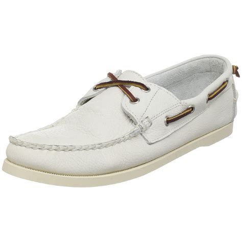 White Boat Shoes by Ralph Lauren Mens Telford Boat Shoe In White For Men Lyst