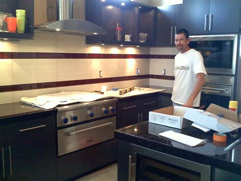 Tile counter tops and back splash creations