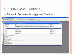 hp trim vs objective With hp document management software