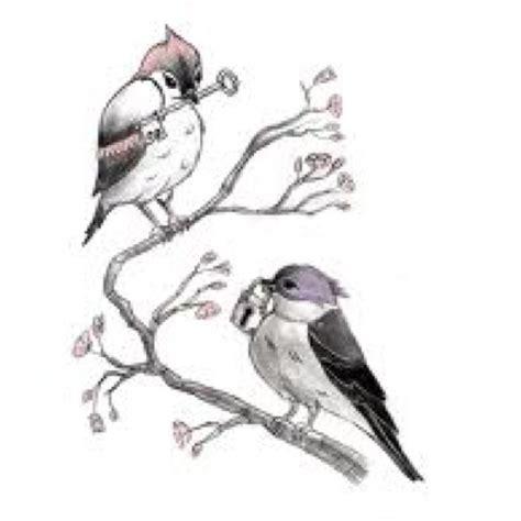 Bird with Lock and Key Tattoo