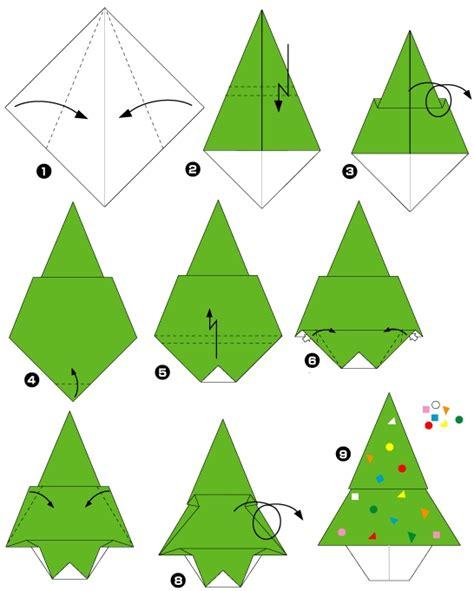 origami facile de noel origami facile noel sapin