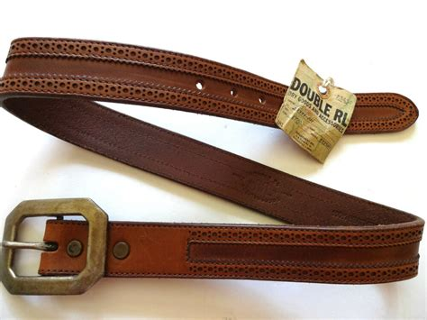 New Ralph Lauren Rrl Italy Made Porous Tooled Brown